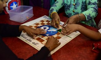 puzzle solving by students and their parents