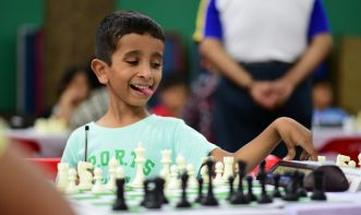 funny expression of chess player