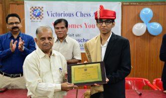 Felicitation of Harshid Raja