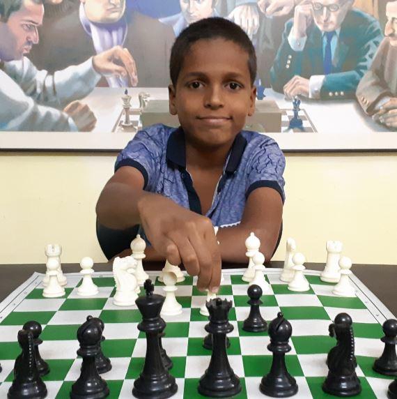 Prathamesh playing chess