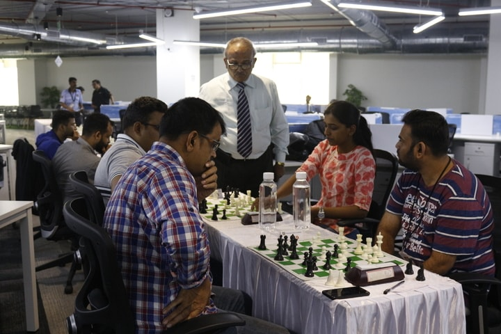 IA Nitin Shenvi Sir inspecting chess match