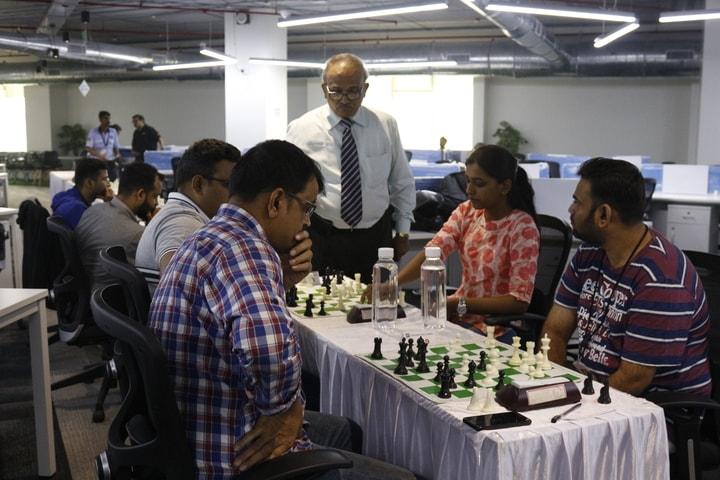 IA Nitin Shenvi Sir inspecting chess match